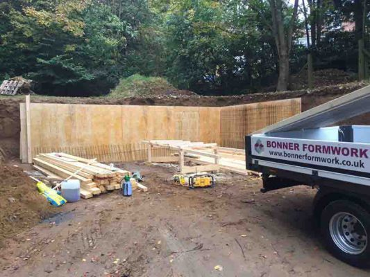 Retaining Walls For Martin's GTS Oct 2016
