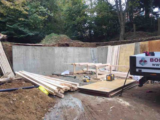 Retaining Wall in Farnham For Martin