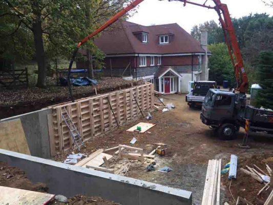 Retaining Wall Farnham For Martin's GTS Oct 2016