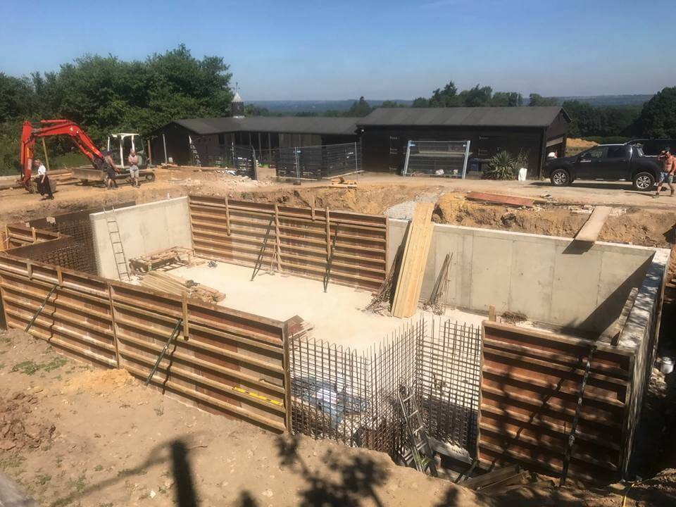 Basement Construction in Haselmere for Fathom Projects