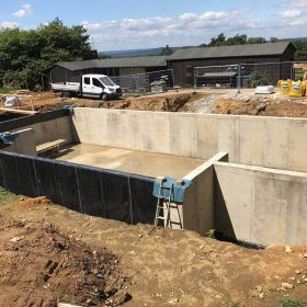 Basement construction in Haselmere for Fathom Projects Summer 2017