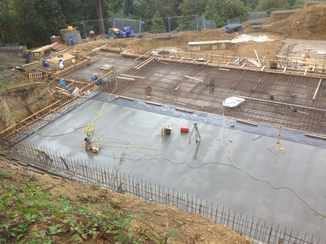 Concrete slabs & bases construction with formwork contractors on site